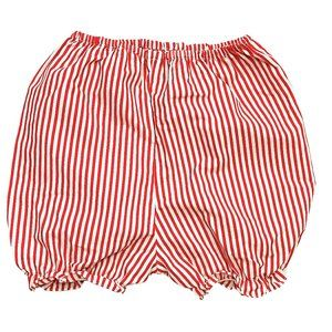 Red & White Striped Baby Bloomer Shorts